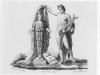 Abb. 16: Vignette der Widmungstafel Humboldts für Goethe (gestaltet von B. Thorvaldsen)