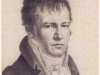 Charles N. Lemercier (1797-1854), Litografie, Selbstbildnis Alexander von Humboldt, Sign. AlexvH. von mir selbst im Spiegel Paris 1814.