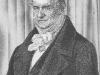 Johann Leonard Raab (1825-1899), Kupferstich nach Karl J. Begas, (1794-1854) Lithografie auf China Papier.