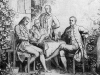 W. Aarland, Goethe, Alexander und Wilhelm v. Humboldt und Schiller in Jena, Holzstich nach Zeichnung von Andreas Müller (1811-1890), aus: Die Gartenlaube, 1860.
