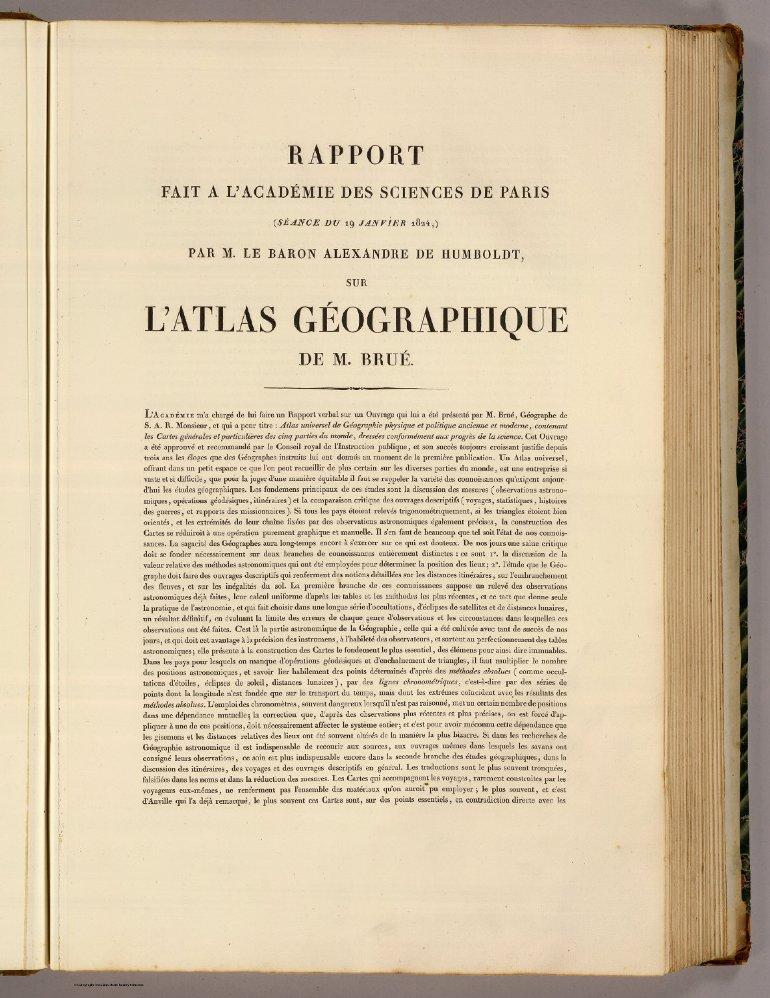 Atlas universel de geopgraphie Rapport 1