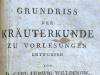 "Abb. 5: Willdenows Schrift ""Grundriss der Kräuterkunde"""