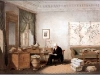 Eduard Hildebrandt (1818-1869), Alexander von Humboldt in seinem Arbeitszimmer, Aquarell, 1848.