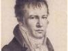 Charles N. Lemercier (1797-1854), Litografie, Selbstbildnis Alexander von Humboldt, Sign. AlexvH. von mir selbst im Spiegel Paris 1814.