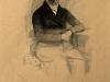 Robert Trossin (1820-1869) , Alexander von Humboldt, Stahlstich nach Hermann Biows Daguerreotypie, 1847.
