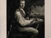 Johann Joseph Freidhof (1768-1818), Mezzotinto, 50,6 x 38,2 cm, nach F.G.Weitsch, Inschrift: A.von Humboldt gemalt von F.G. Weitsch gestochen von J.J. Freidhof, Berlin 1808.